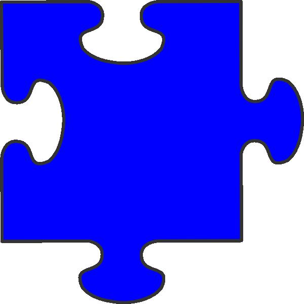 blue border puzzle piece clip art at clkercom vector