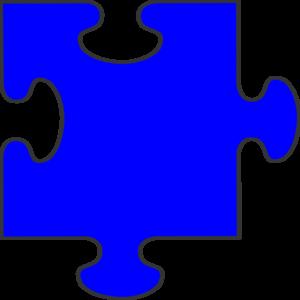 Blue Border Puzzle Piece Clip Art at Clker.com - vector ...