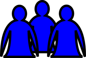 Abstract People Blue Clip Art