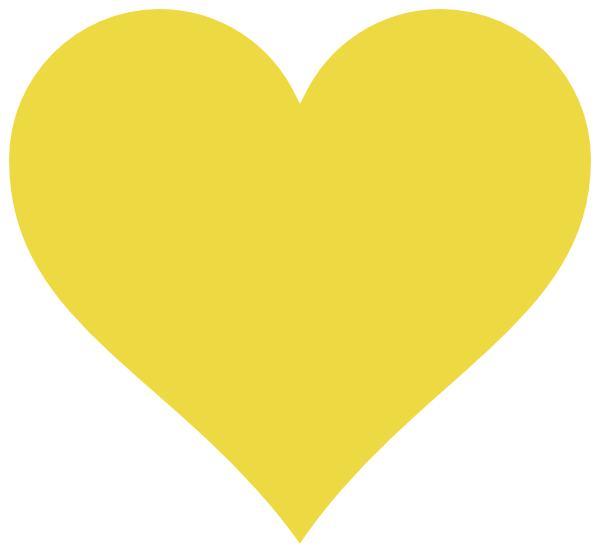 clip art yellow heart - photo #50