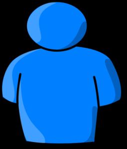 blue person clip art at clker com vector clip art online royalty rh clker com clip art person outline clipart person umbrella beach black/white