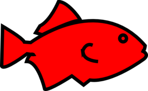 Fish Outline-red Clip Art
