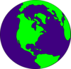 Dark Purple Earth Clip Art