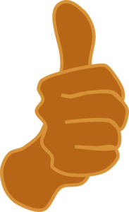 Thumbs Up Brown Clip Art