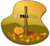 Fall Wood Sign Clip Art