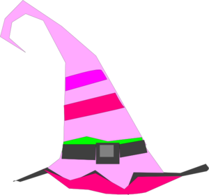 Witch Hat Pink Clip Art