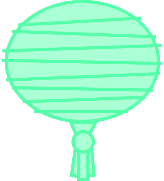 Green Paper Lantern Clip Art at Clker.com - vector clip ...