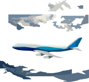 747 Vector No Back Ground Low Detail Clip Art