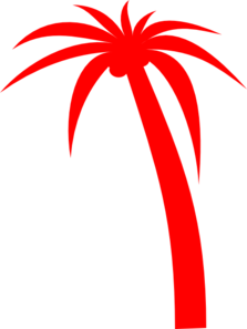 Red Palm Tree Clip Art