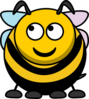 Bee Looking Left-up Clip Art