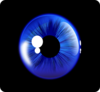 Deep Blue Eye Clip Art