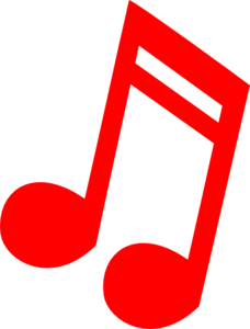 Red Music Note Clip Art