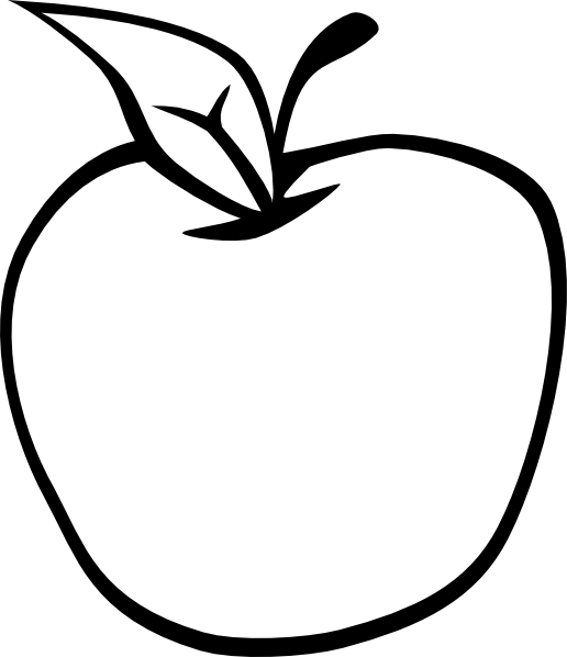 Cartoon Apple Coloring Pages : Empty apple clip art at clker vector online