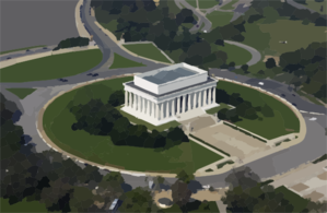 Aerial View Of The Lincoln Memorial Clip Art