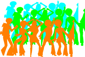 70;s Dancing Sihlouettes Clip Art