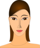 Brown Hair Woman Clip Art