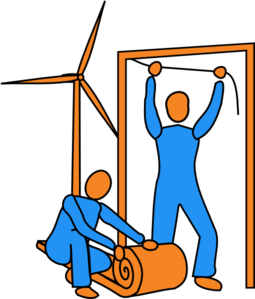 Wind Turbine & Insulation Clip Art