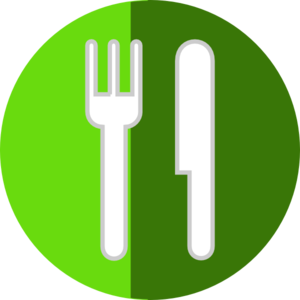 Plate Fork Knife Icon Clip Art
