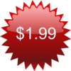 $1.99 Red Star Price Tag Clip Art