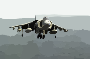 Marine  Harrier  Over The Arabian Sea Clip Art