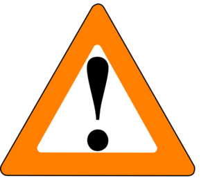 Apr Orange Black Warning Clip Art