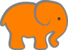 Orange And Grey Elephant Clip Art