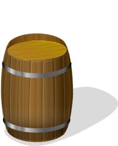 Wine Barrel Brown Clip Art