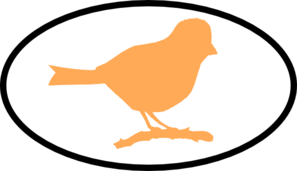 Orange Finch Clip Art
