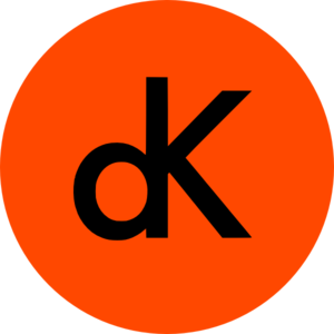 Dk Logo On Orange Circle Clip Art