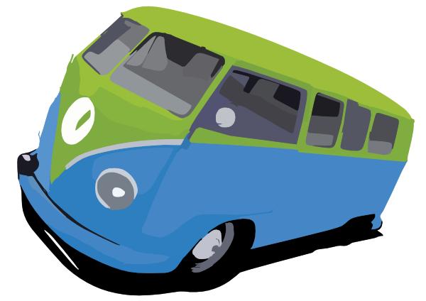 vw bus by stxd s clip art at clker com vector clip art vw bus t1 clipart vw bus clipart free