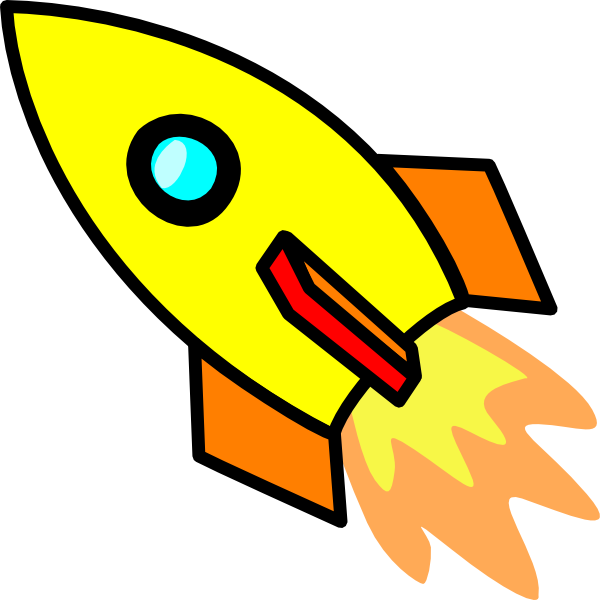 Yellow Rocket Clip Art at Clker.com - vector clip art online, royalty ...