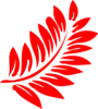 Red Fern Leaf Clip Art