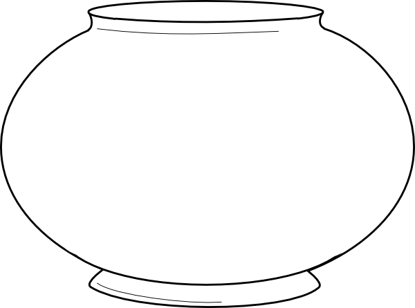 simple fishbowl outline clip art at clker - vector clip art, Powerpoint templates