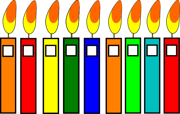 B Day Candles Clip Art At Clker Com Vector Clip Art