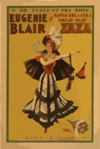 Henri Gressit Presents Eugenie Blair In David Belasco S Great Play, Zaza Clip Art