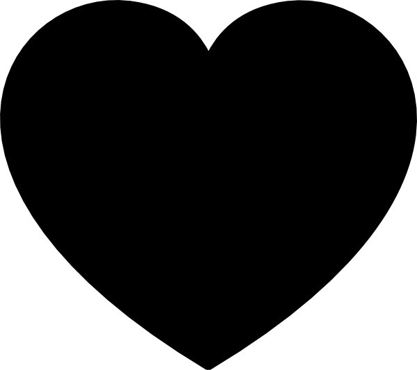 Solid Black Heart Reduced Clip Art at Clker.com - vector ...
