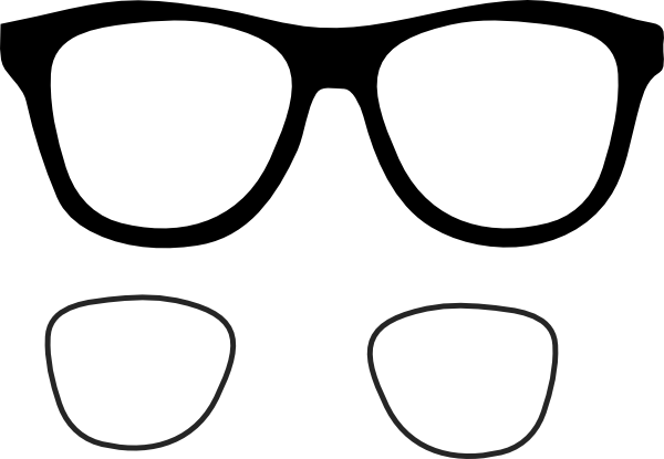 Eyeglass Frame Vector : Black Eye Glasses Clip Art at Clker.com - vector clip art ...