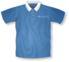 Blue Collared Short Sleeve Shirt Clip Art