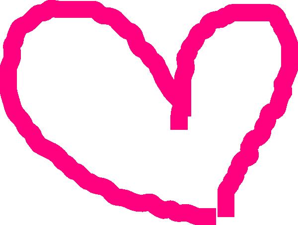 Pink Heart Outline clip artPink Heart Outline Png