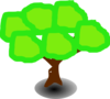Six Green Dumpling Tree Clip Art