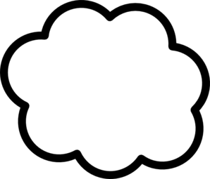Cloud Rain Blue Clip Art