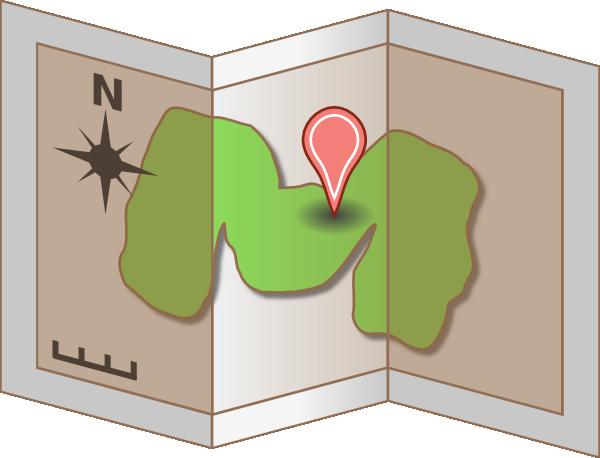 map trifold clip art at clker com