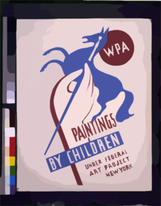 Wpa Paintings By Children Under Federal Art Project, New York Clip Art