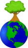 Tree On Top Of The World Clip Art