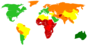 Life Expectancy World Map Clip Art