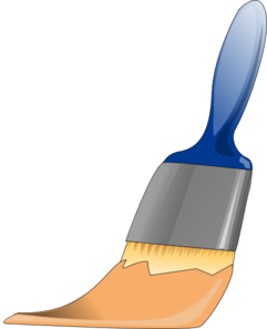 Paintbrush Tan Clip Art