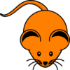 Orange Mouse Clip Art