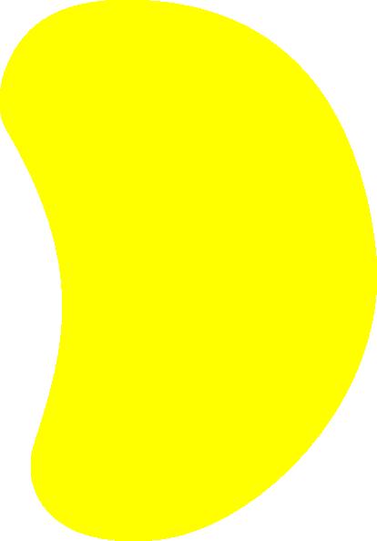 Yellow-jelly-bean Clip Art at Clker.com - vector clip art online ...