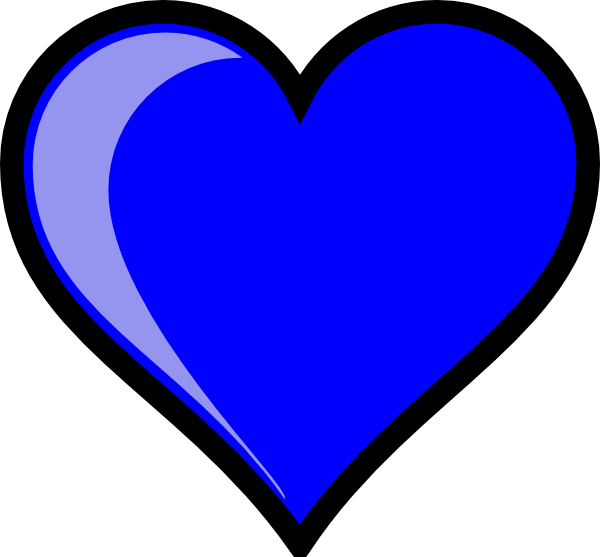 blue heart clip art at clker com vector clip art online royalty