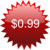 $0.99 Red Star Price Tag Clip Art